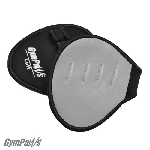 Gym Gloves for Sweaty Hands! - Leather Weight Lifting Grips (Grey)