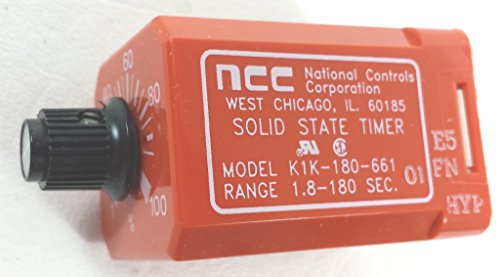 NATIONAL CONTROLS K1K-00180-661 E5 2P 10A 120VCOIL SOLID STATE TIMER RELAY by National Controls