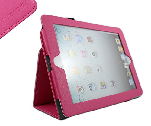 SANOXY Slim FOLIO Folder PU Leather Stand Case for iPad 2/3/4 /iPad 2nd Generation (HOT PINK FOLIO) Review