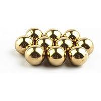pomcat 10pcs 1/2inch precisión sólido latón rodamientos bolas