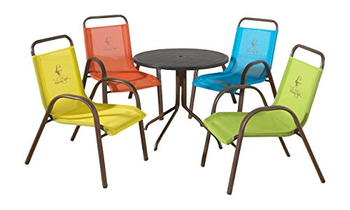 Panama Jack Kids 5-Piece Outdoor Dining Set, Multicolored (Rattan Table Set Console)
