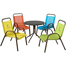 Panama Jack Kids 5-Piece Outdoor Dining Set, Multicolored