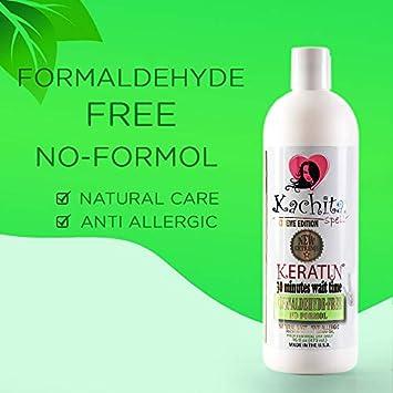 Brazilian Keratin Treatment Alizado de Keratina Formaldehyde Free, 16 fl oz 473 mL