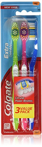 Colgate Extra Clean Full Head Toothbrush, Soft – 3 Count