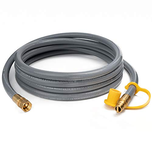GASPRO 10 Feet 3/8 Natural Gas Hose, Propane Gas Grill Quick Connect/Disconnect Hose Assembly for Outdoor NG/Propane Appliance -CSA Certified