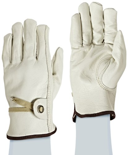 West Chester 84055 Premium Grain Cowhide Leather Unlined Driver Glove, XL, Beige (Pack of 1 Pair)