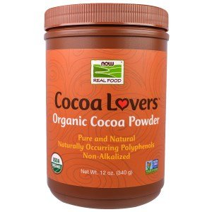 Now Foods, Real Food, Cocoa Lovers, Organic Cocoa Powder, 12 oz (340 g)(Pack of 3) - Powder 340g