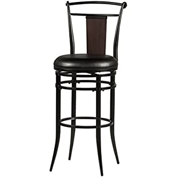 Amazon Com Hillsdale Midtown Swivel Counter Stool Black