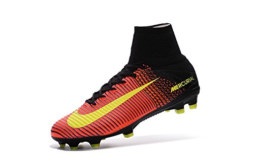 wholesale dealer e08c0 d6f02 Men s High Ankle Soccer Shoes Nike Mercurial Superfly V FG Orange Pink (US  9.5