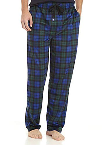 - IZOD Men's Advantage Sleepwear Silky Fleece Pajama Pants, Navy/Hunter Green, Small