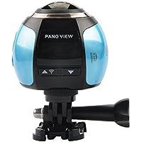 OTHA 360°Ultra HD 4K Panoramic Camera Deportiva Wifi Sport Cam Driving VR Camera--Blue