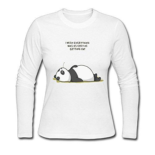 bosenjiaju Women's Shirts Panda Funny T - Package Class First Ups Tracking