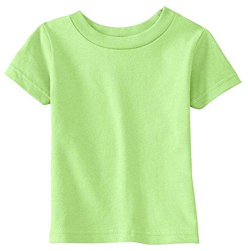 Price comparison product image Rabbit Skins Infants'5.5 Oz. Short-Sleeve Jersey T-Shirt,  12MOS,  Key Lime