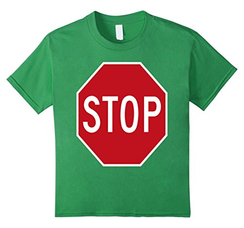 Stop Sign Costume (Kids STOP road sign fancy dress funny costume tshirt 4 Grass)