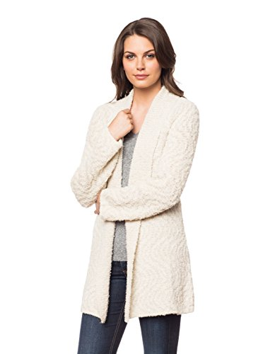 Invisible World Womens Alpaca/Pima Cotton Blend Womens Sweater Coat Cardigan Swirl - Medium by Invisible World
