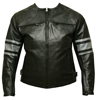 Amazon.com: Leather Jacket Motorcycle Armor Ladies Black GM L ...
