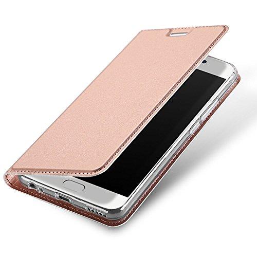 Meizu M6 Note Funda, OFU® aspecto delgado caso,PU cuero cartera caso de visualización,cierre magnético,TPU parachoques - Meizu M6 Note cuero flip cartera-rojo oro rosa