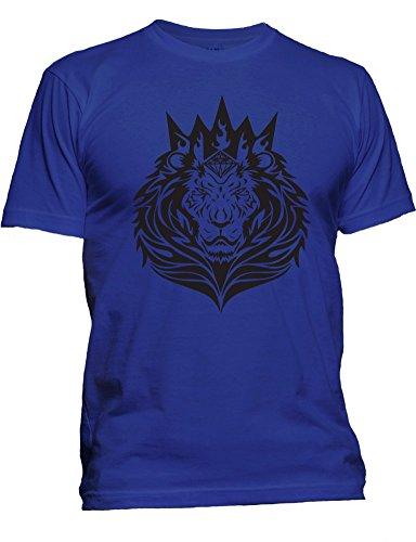 Men's New Popular Fashion King Lion Tee Casual Fall Hip Hop Graphic T-Shirt (2XL, Royal) (Lil Wayne Trukfit Hoodie)