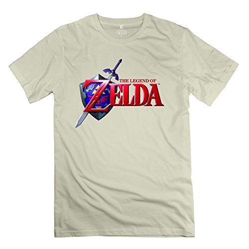 Legend Zelda Ocarina Time Men's Short Sleeve Tee Size S Natural