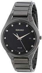 Seiko Men's SNE243 Solar Stainless Steel Dress Watch