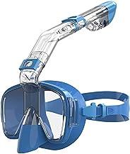 AKASO Snorkel Mask Broad View Scuba Mask Anti-Fog Anti-Leak with Camera Mount Diving Mask Snorkeling Mask, for