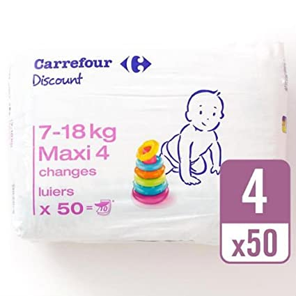 Carrefour descuento tamaño 4 Carry Pack 50 Pañales
