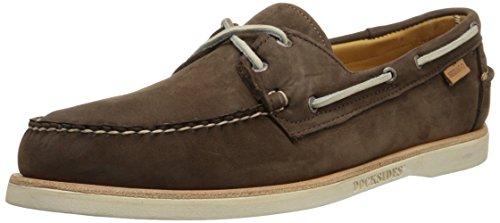 (Sebago Crest Docksides Men's Dark Brown Nubuck Boat Shoes 8.5M)