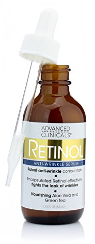 Advanced Clinicals Professional Strength Retinol Serum. Anti-aging, Wrinkle Reducing 1.75 Fl (Advanced Acne Pads)