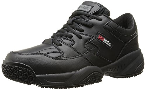 Athletic Clogs Slip (Skidbuster 5050 Men's Leather Comfort Slip Resistant Athletic Shoe,Black,14 M US)