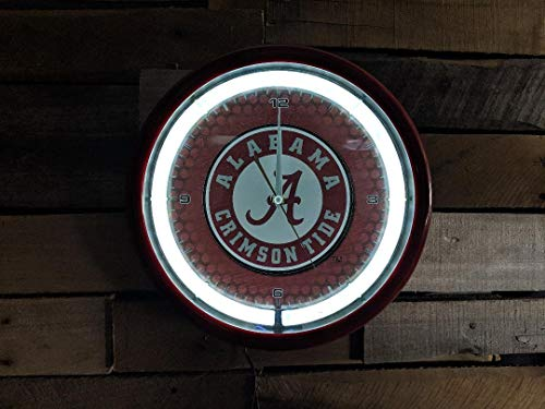 Authentic Street Signs NCAA College Team Plasma Clock (Alabama Crimson Tide) ()