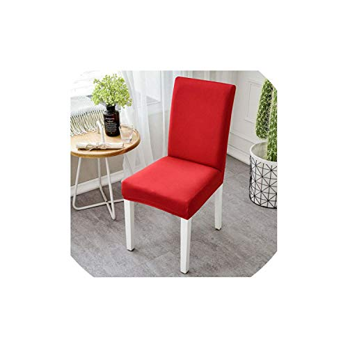 pleasantlyday Modern Plain Color Chair Cover Stretch Elastic Dining Seat Cover Pastoral YZT01,B,Universal -