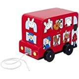 Orange Tree Toys Pull Along Wooden Toy - London Bus