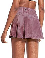 Jogoi Faldas de Tenis para Mujer 2 in 1 Falda Plisado Deportiva Skirts de Cintura Alta Mini para Correr Golf Deportes con Forro Bolsillo