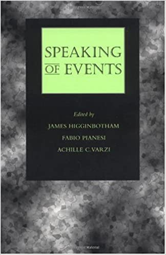 Speaking of Events - Kindle edition by James Higginbotham, Fabio Pianesi, Achille  C. Varzi. Reference Kindle eBooks   Amazon.com. 9182dbf4b49
