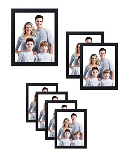 [해외]Nuvita 7 Piece Black Photo Frame Wall Gallery Kit with Decorative Art Prints & Hanging Template / Nuvita 7 Piece Black Photo Frame Wall Gallery Kit with Decorative Art Prints & Hanging Template