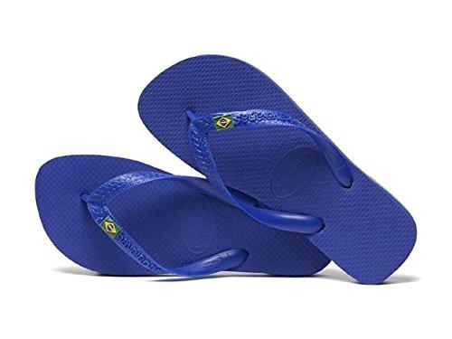 Havainas Havaianas Unisex Flip Flop Logo Brazil Beach Sandals - Flip Flop Havaianas Blue Anil 91VjPLR