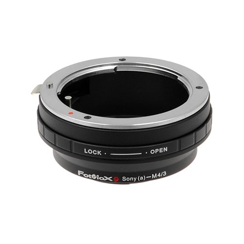 Fotodiox Lens Mount Adapter - Sony Alpha A-Mount (and Minolta AF) DSLR Lens to Micro Four Thirds (MFT, M4/3) Mount Mirrorless Camera Body, with Built-In Aperture Control Dial