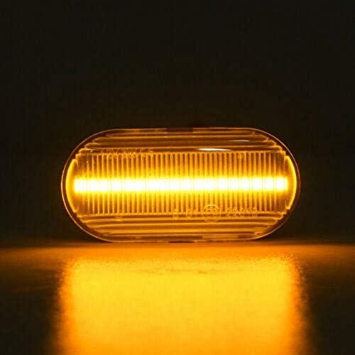 Nrpfell LED Dynamique Le Marqueur Lat/éRal Le Clignotant Voyant Convient pour Clio Espace KANGOO Megane Laguna Master