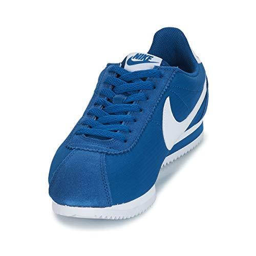 Cortez Mehrfarbig Classic Herren Nylon Fitnessschuhe White Blue NIKE 406 Gym gwXEqx5SS