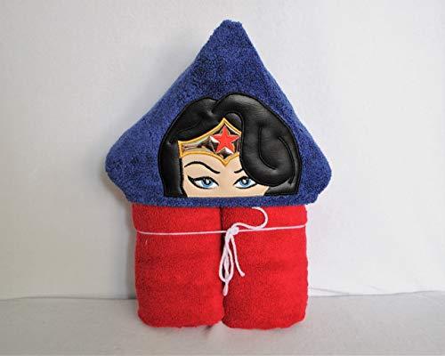 (Female Star Super Hero Hooded Bath Towel - Baby, Child,)