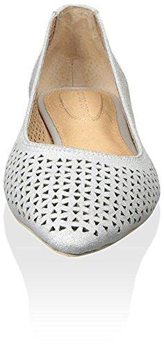 Corso Como Women's Monaco Perforated Ballet Flat Silver Qqx6QYdR
