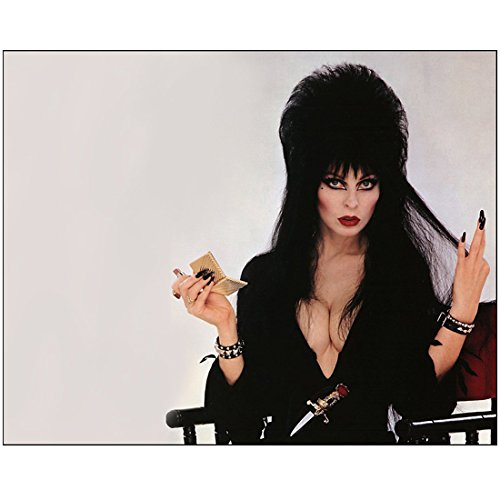 Cassandra Peterson is Elvira Seated Fixing Make-up 8 x 10 Inch -