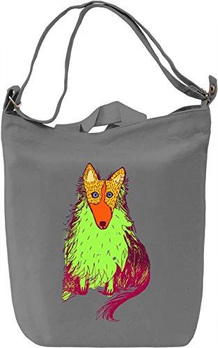 Green Wolf Borsa Giornaliera Canvas Canvas Day Bag| 100% Premium Cotton Canvas| DTG Printing|