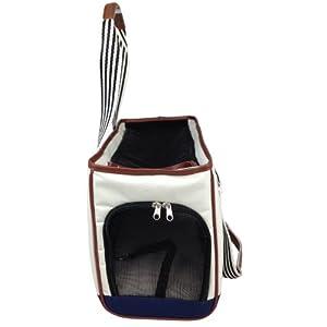 PET LIFE 'Yacht Polo' Fashion Designer Travel Pet Dog Carrier, Medium, White