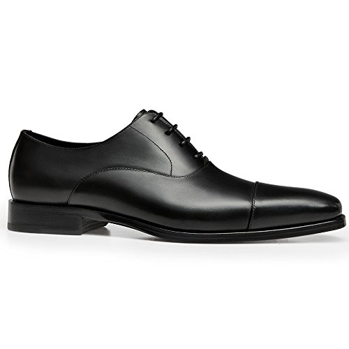 sale professional GIFENNSE Men's Classic Modern Oxford Wingtip Lace Dress Shoes Black shop store cheap price for sale sale online eWA2csRxK