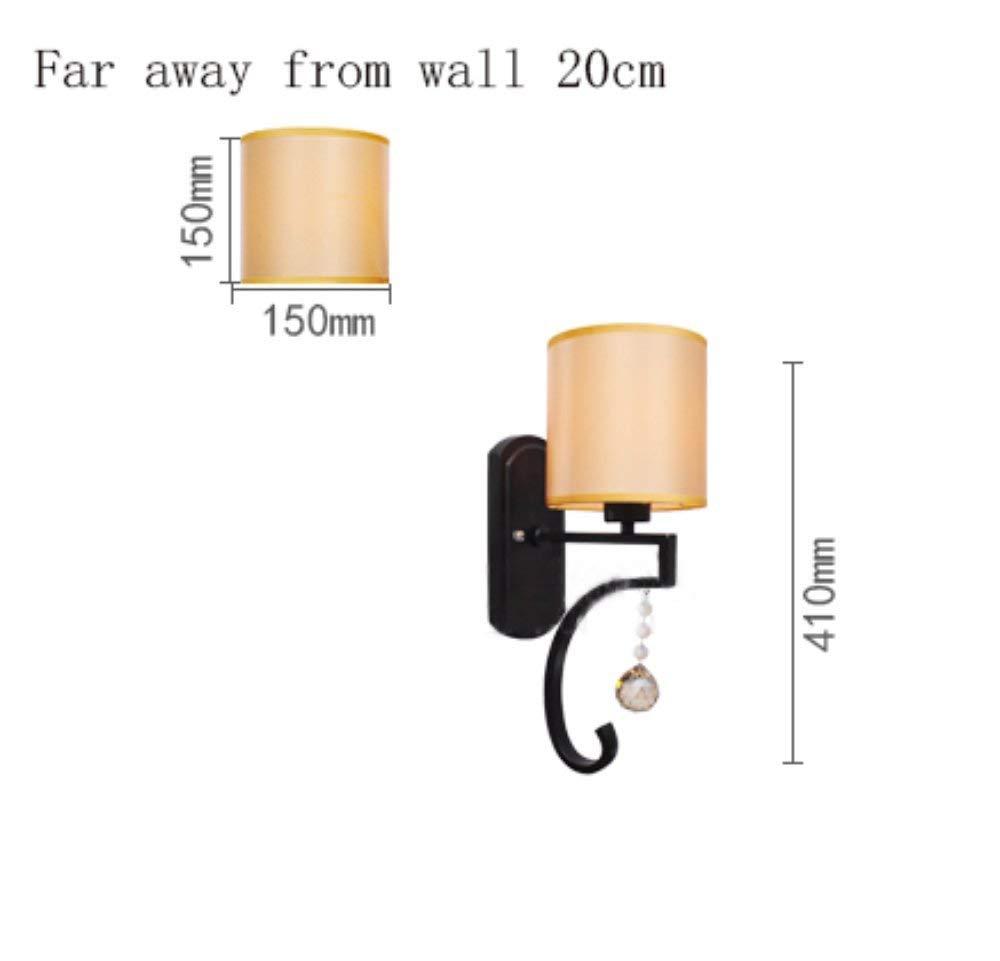 FXING Energieeinsparung verstellbare Wandleuchte-im Europäischen Stil Schlafzimmer Nachttischlampe Gang Retro minimalistischen neuen Chinesischen Eisenindustrie Wandleuchte (Nicht die Lichtquelle)