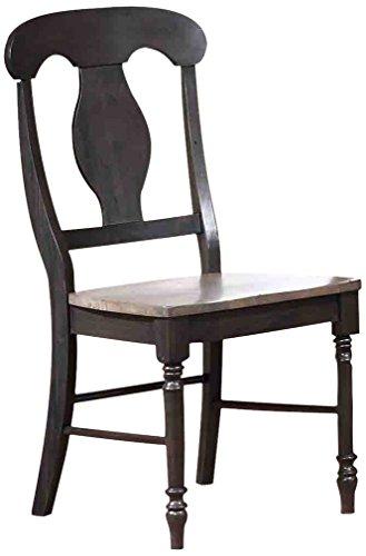 Iconic Furniture Napoleon Dining Chair, Antiqued Grey Stone/Black Stone Finish- SET OF 2 ()