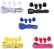 HEALIFTY 5pcs Elastic No Tie Shoe Laces Stretch Shoe Laces for Adults and Kids (As Shown)