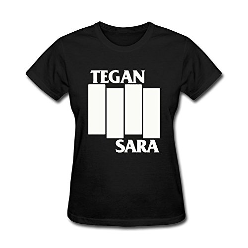 Bayyand Women's Tegan And Sara T-shirt Black (Tegan And Sara Halloween T Shirt)