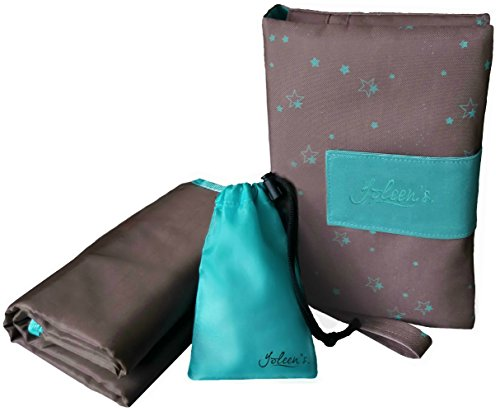 Yoleen's Portable Diaper Changing Station: Stylish Diaper Clutch with Extra Large Full Body Changing Pad suitable for Newborns and Toddlers + Drawstring Pacifier Bag+ eBook